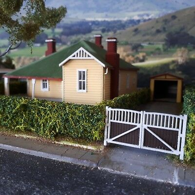 Ho Scale Fancy Driveway Gates Laser cut real Timber