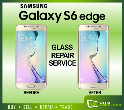 Samsung Galaxy S6 edge Cracked Screen Glass Repair Replacement Mail in Service