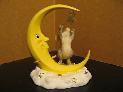 Fitz and Floyd Charming Tails Mice Figurine Reach For The Stars 97/718