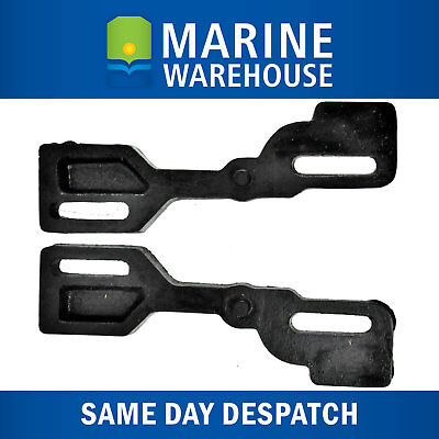 2X Outboard Motor Transom Wedge Black Polymer - 280mm Angle Plates Pair 202052