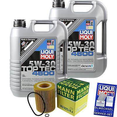 MANN-FILTER KIT CAMBIO ACEITE 10l LIQUI MOLY 3756 TOP TEC 4600 5w-30 mlm-9782052