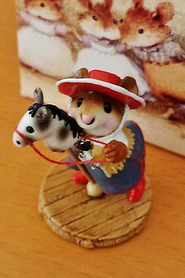 """Wee Forest Folk M-290 """"Clippity Clop"""" red hat RETIRED MINT"""