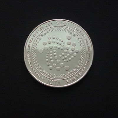 IOTA Commemorative Round Collectors Coin Silver Plated Iron Miner Coin Gift 38mm