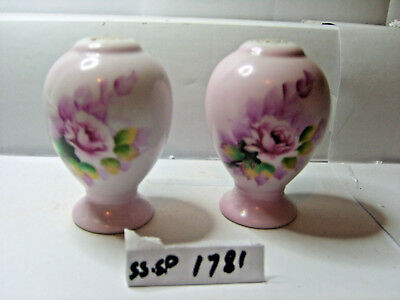 with flowers salt and pepper shakers