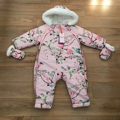 93f6c5356a6a TED BAKER- BABY girl s floral snowsuit Size 12-18 months - £39.90 ...