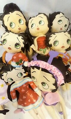 Betty Boop dolls (Seven one lot)