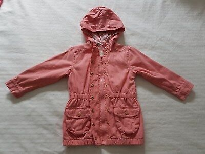 Girl's Size 3 Peach Colour Jacket with Hoody Excellent Condition