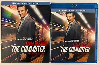The Commuter Blu Ray Dvd 2 Disc Set + Slipcover Sleeve Free World Wide Shipping