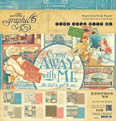 """Graphic 45 Come Away With Me  """"I Want It All Collection Set"""" Includes Everything"""
