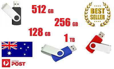 128/256/512/1TB USB 2.0 Flash Drive Disk Ultra Memory Stick Thumb Storage Swivel