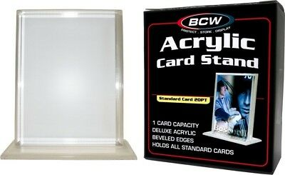 Vertical Acrylic Card Stand Display Holder UV Protection Baseball Sport Card BCW