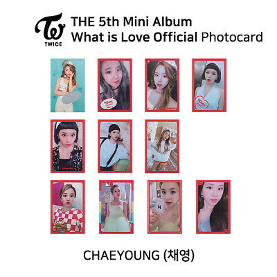 TWICE 5th mini album : What is love Official Photocard - Chaeyoung