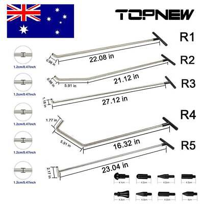 R1-R5 PDR Puller Rods Dent Repair Kit Paintless Dent Removal Hail Ding Tools Set