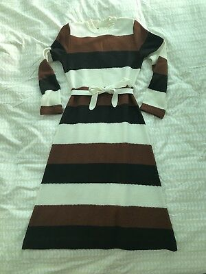 Authentic Vintage 60s 70s Orla Style Jumper Dress by St Michael (M&s)
