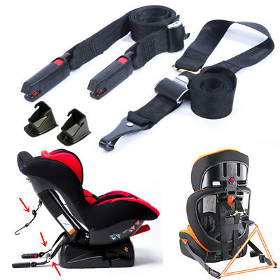 3 Point ISOFIX Latch Belt Strap Connectors For Car Safety Baby Seat Child Seat