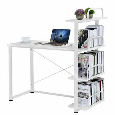 Modern Office PC Table Computer Study Desk Workstation with Bookcase Shelves