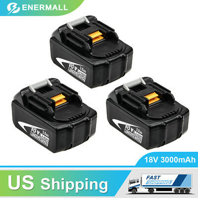 3xBL1830 Replace for Makita 18V Lxt Lithium Battery 3.0Ah BL1850 BL1860 BL1840