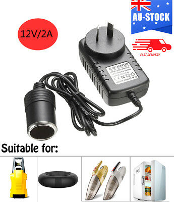 Cigarette Lighter Socket Car Charger Power Adapter 240V to DC 12V Black