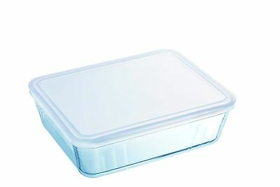 Pyrex Cook & Freeze Rectangular Dish & Lid 0.8L Casserole Baking Roasting Glass