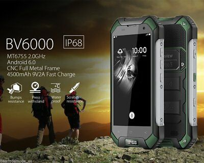 4500mA NFC Android 7 4G LTE Outdoor Handy Blackview BV6000 Smartphone 3GB+32GB *