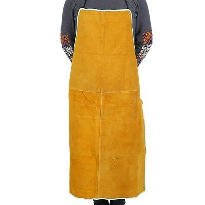 Welding Apron Cow Suede Leather Safety Bib Cloth Welders Labor Work Protective