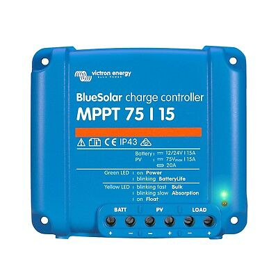 Victron BlueSolar MPPT 75/15 15A Solar Charge Controller solar panels up to 75V