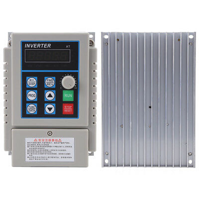 Universal Variable Frequency Drive VFD Speed Controller 0.75kw Single Phase 3PH
