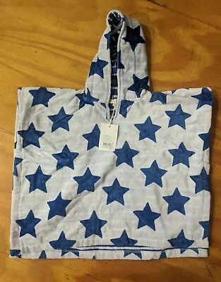 NEW Country Road baby star print poncho towel (one size) RRP$49.95 new with tags