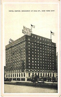 New York City NYC Hotel Empire Broadway 63 Lincoln Square 1930 Unused