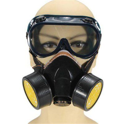 Industrial Anti-Dust Respirator Mask Chemical Gas Mask with Eye Goggles Set