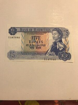 1967 (ND) Mauritius 5 Rupee Banknote