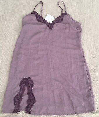 New Out From Under UO Slip Chemise Nightgown Sz XS Mauve Sexy Lingerie NWT