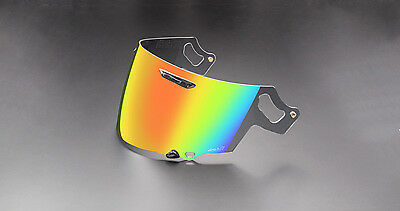 Genuine Arai RX-7V Red Orange Mirror Visor Face Shield VAS-V Corsair-X, Signet-X