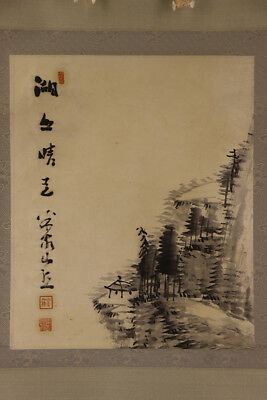 JAPANESE HANGING SCROLL ART Painting Scenery Asian antique  #E1737