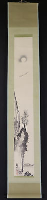 JAPANESE HANGING SCROLL ART Painting Scenery Asian antique  #E1725