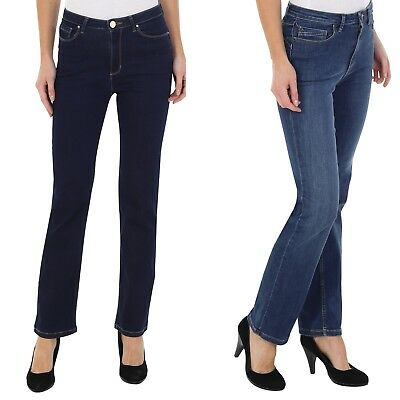 Ex M&s 1801 Ladies Per Una Sculpt & Lift Straight Leg Jean With Stretch