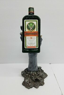 Jagermeister Walking Dead Zombie Hand Holding Bottle Bar Decor Resin RARE