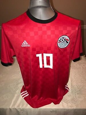 Mohamed Salah Customized Egypt Soccer Jersey Sizes S-XXL (choose your size)