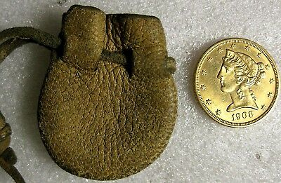 1908 $5.00 Gold Half Eagle with Pouch