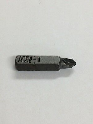 "Apex 212-1 Bits X 30   1/4 Hex Ins #1 T-Set 1"" 25Mm Oal"