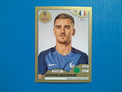 Figurine Panini World Cup Russia 2018 Gold n.207 Antoine Griezmann France