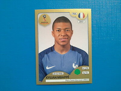 Figurine Panini World Cup Russia 2018 Gold n.209 Kylian Mbappe' France