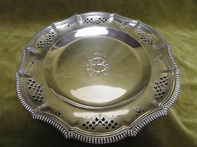 1900 french sterling silver footed fruit bowl Louis XIV st Gadroons Gautier 477g