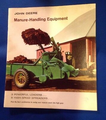 Vintage 50's  John Deere Manure Handling Equipment Dealer Brochure