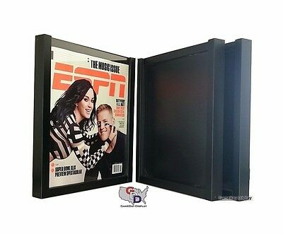 UV Protecting Lot of 3 ESPN Magazine Display Case Frame by GameDay Display