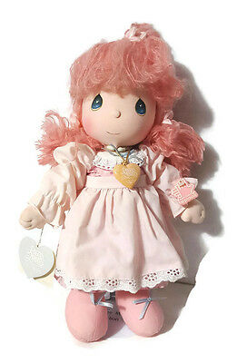 Vtg Applause 1985 Precious Moments Doll Stand 4563 Jeannie Pink Hair Blue Eyes