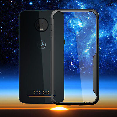 Clear TPU Acrylic PC back Cover Case For Motorola Moto Z2 Z3 Play G6 G5S E5 Plus
