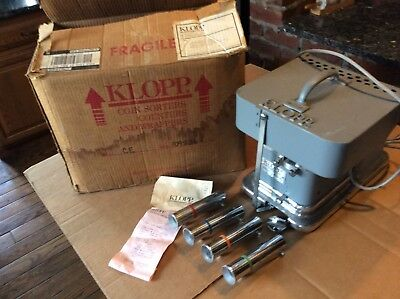 KLOPP COIN COUNTER - Electric Model CE - Includes 4 Wrapping Tubes - Very Good