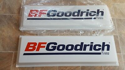 "Vintage BF Goodrich Double sided Tire Sign 36"" x 12"" Plastic inserts New Dualite"