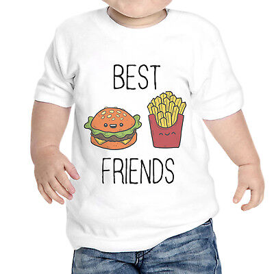 T-Shirt Neonato Unisex Best Friends Panino Patatine